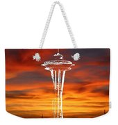 Needle Silhouette Weekender Tote Bag