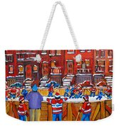 Neighborhood  Hockey Rink Weekender Tote Bag