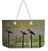 Neighborhood Watch Crows Weekender Tote Bag