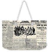 Nellie Bly (1867-1922) Weekender Tote Bag