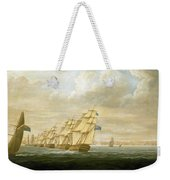 Nelson's Inshore Blockading Squadron At Cadiz, July 1797 Weekender Tote Bag