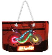 Neon Bicycle Weekender Tote Bag
