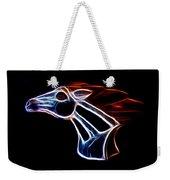 Neon Bronco II Weekender Tote Bag by Shane Bechler