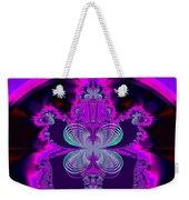 Neon Butterflies And Rainbow Fractal 137 Weekender Tote Bag