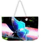 Neon Butterfly Weekender Tote Bag
