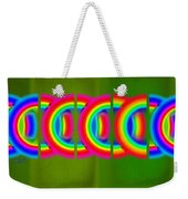 Neon Chain Weekender Tote Bag