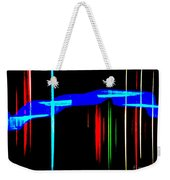 New Orleans Neon Christmas Frequency Abstract 1  Weekender Tote Bag