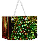 Neon Christmas Tree Weekender Tote Bag