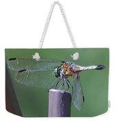 Neon Dragonfly Weekender Tote Bag