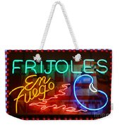 Neon Frijoles And Peppers And Gas Weekender Tote Bag