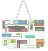 Neon Geometrics 2 Weekender Tote Bag