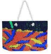 Neon Glow Mosaic Weekender Tote Bag