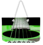 Neon Green Guitar 18 Weekender Tote Bag