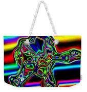 Neon Iris Weekender Tote Bag