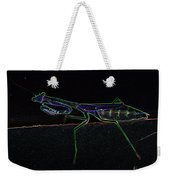 Neon Praying Mantis Weekender Tote Bag