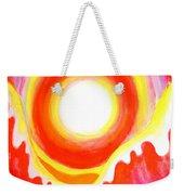 Neon Red Sky And Sea Weekender Tote Bag