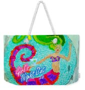 Neon Undersea Invitation Girls Night Out Weekender Tote Bag
