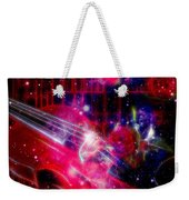 Neons Violin With Roses With Space Effect Weekender Tote Bag