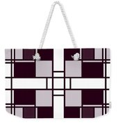 Neoplasticism Symmetrical Pattern In Pinkish Gray Weekender Tote Bag