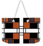 Neoplasticism Symmetrical Pattern In Tijuna Gamboge Weekender Tote Bag