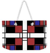 Neoplasticism Symmetrical Pattern In Well Read Red Weekender Tote Bag