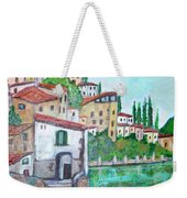 Nesso Village In Lake Como Weekender Tote Bag