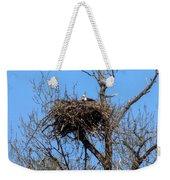 Nesting Bald Eagle Weekender Tote Bag