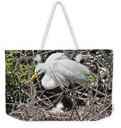 Nesting Great Egret With Chick Weekender Tote Bag