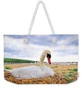 Nesting Mute Swan At Abbotsbury - Impressions Weekender Tote Bag