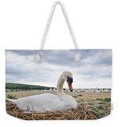 Nesting Mute Swan At Abbotsbury Weekender Tote Bag
