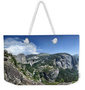 Nevada And Vernal Falls From Near Grizzly Peak - Yosemite Valley Weekender Tote Bag