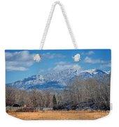 Nevada Ranch In Winter Weekender Tote Bag