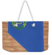 Nevada Rustic Map On Wood Weekender Tote Bag