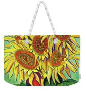 Never Enough Sunflowers Weekender Tote Bag by Andrea Folts