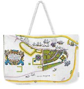 New Amsterdam Map, 1661 Weekender Tote Bag
