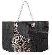 New Baby Giraffe Weekender Tote Bag