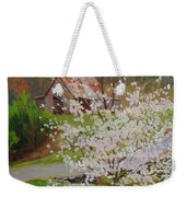 New Blossoms Old Barn Weekender Tote Bag