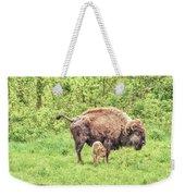 New Born Bison Weekender Tote Bag