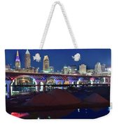 New Bridge From Along The River Weekender Tote Bag
