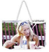 New Diet Weekender Tote Bag