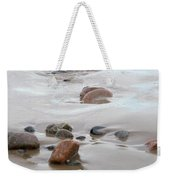 New England Beach With Rocks And Waves Weekender Tote Bag