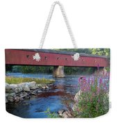 New England Covered Bridge Connecticut Weekender Tote Bag