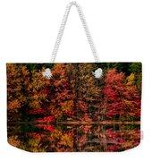 New England Fall Foliage Reflection Weekender Tote Bag