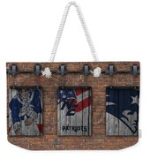 New England Patriots Brick Wall Weekender Tote Bag