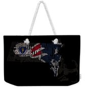 New England Patriots Typographic Map 03 Weekender Tote Bag