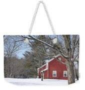 New England Red House Winter Weekender Tote Bag