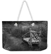 New England Summer Rustic Bw Weekender Tote Bag