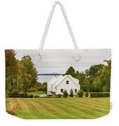New England Traditional House In The Fall Weekender Tote Bag