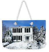 New England Winter Weekender Tote Bag