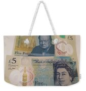 New Five Pound Notes Weekender Tote Bag